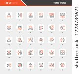 vector set of team work flat... | Shutterstock .eps vector #1223734621