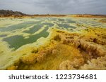dallol is an active volcanic... | Shutterstock . vector #1223734681