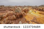 dallol is an active volcanic... | Shutterstock . vector #1223734684