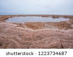 dallol is an active volcanic... | Shutterstock . vector #1223734687