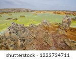 dallol is an active volcanic... | Shutterstock . vector #1223734711