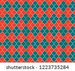 ottoman mosque vector seamless... | Shutterstock .eps vector #1223735284