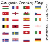 european country flags | Shutterstock .eps vector #1223740744