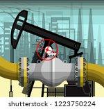fragment of the pipeline on the ... | Shutterstock .eps vector #1223750224