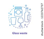 glass waste concept icon.... | Shutterstock .eps vector #1223762737