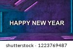happy new year blue light and... | Shutterstock . vector #1223769487