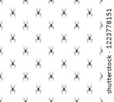 spider pattern seamless repeat... | Shutterstock .eps vector #1223778151