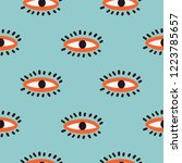 seamless pattern in the style...   Shutterstock .eps vector #1223785657
