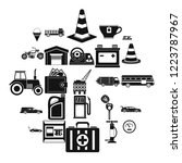 petrol station icons set.... | Shutterstock .eps vector #1223787967