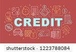 credit word concepts banner.... | Shutterstock .eps vector #1223788084