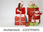 isolated full body christmas... | Shutterstock . vector #1223793691