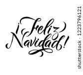 happy new year stroke spanish... | Shutterstock .eps vector #1223796121