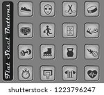 sport vector web icons on the... | Shutterstock .eps vector #1223796247