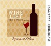 wine menu design    wine list...   Shutterstock .eps vector #122379934