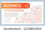business optimization and... | Shutterstock .eps vector #1223801044