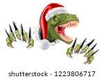 a t rex dinosaur wearing a... | Shutterstock .eps vector #1223806717