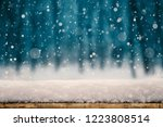 winter christmas background...   Shutterstock . vector #1223808514