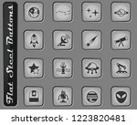 space vector web icons on the... | Shutterstock .eps vector #1223820481