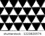 seamless pattern of triangles... | Shutterstock .eps vector #1223820574