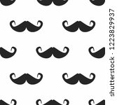 repeating mustache silhouettes. ...   Shutterstock .eps vector #1223829937