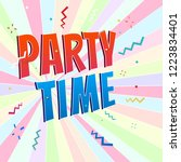 party time banner | Shutterstock .eps vector #1223834401
