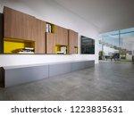 tv unit in a modern style in... | Shutterstock . vector #1223835631