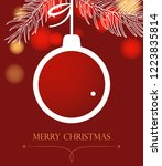 christmas background with ball. ...   Shutterstock .eps vector #1223835814