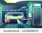 future spaceship crew member...   Shutterstock .eps vector #1223838937