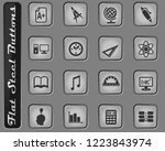 education vector web icons on... | Shutterstock .eps vector #1223843974