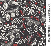 christmas seamless pattern for... | Shutterstock .eps vector #1223846704