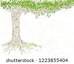 hand drawn tree on white... | Shutterstock .eps vector #1223855404