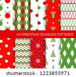 ten christmas different... | Shutterstock .eps vector #1223855971
