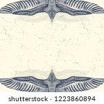 grunge  grey background with... | Shutterstock .eps vector #1223860894