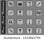 work tools vector web icons on... | Shutterstock .eps vector #1223861794
