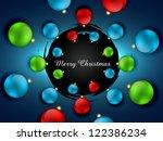 beautiful merry christmas... | Shutterstock .eps vector #122386234