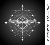 balck and white geometric... | Shutterstock .eps vector #1223862694