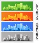 city skyline colored sets  city ... | Shutterstock .eps vector #1223862904