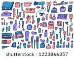 vector beauty items. set of... | Shutterstock .eps vector #1223866357