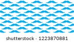 prostate cancer moustache light ... | Shutterstock .eps vector #1223870881