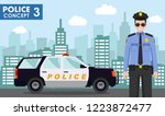 police concept. detailed...   Shutterstock .eps vector #1223872477