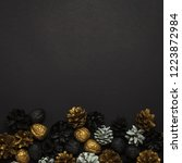 Pine Cones And Nuts Painted In...