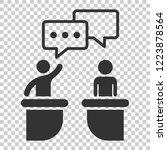 politic debate icon in flat... | Shutterstock .eps vector #1223878564