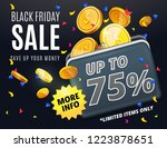 black friday sale discount... | Shutterstock .eps vector #1223878651