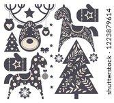set of christmas elements for... | Shutterstock .eps vector #1223879614