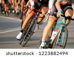 cycle race  august 27  2018 ... | Shutterstock . vector #1223882494