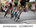 cycle race  august 27  2018 ... | Shutterstock . vector #1223882497