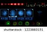 digital data array on screen of ... | Shutterstock . vector #1223883151