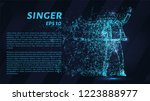 singer glowing blue particles....   Shutterstock .eps vector #1223888977