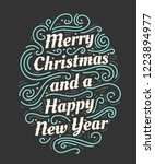 merry christmas and a happy new ... | Shutterstock .eps vector #1223894977