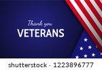 thank you veterans  card design ... | Shutterstock .eps vector #1223896777